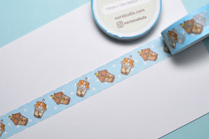 Bubu and Moonch Bubble Tea Washi Tape
