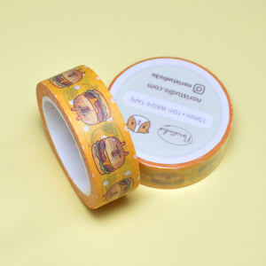 Bubu and Moonch Capybara Cheeseburger Washi Tape