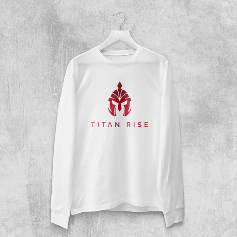 TITAN RISE LONG SLEEVE T-SHIRT (WHITE, BLACK) - Titan Rise
