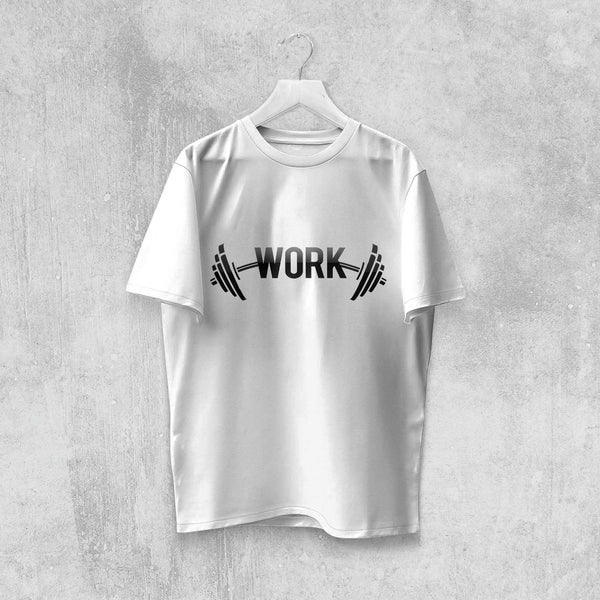 WORK T-SHIRT (WHITE, BLACK, ASH) - Titan Rise