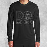 DO MORE LONG SLEEVE T-SHIRT (BLACK) - Titan Rise