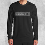 GRIND & GRATITUDE LONG SLEEVE (WHITE, BLACK) - Titan Rise