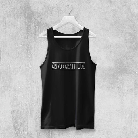 GRIND & GRATITUDE TANK-TOP (WHITE, BLACK, GREY) - Titan Rise