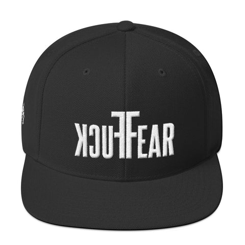 FUCK FEAR SNAPBACK (BLACK, HEATHER GREY) - Titan Rise