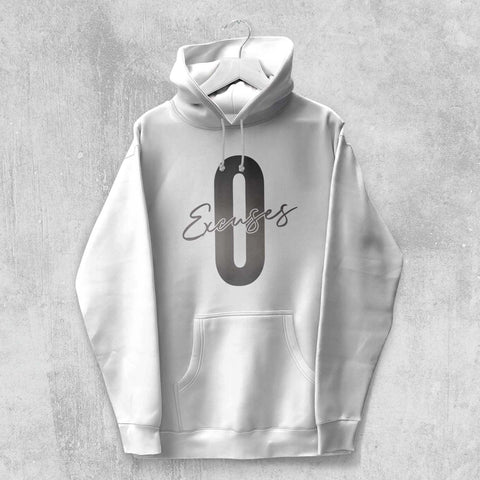ZERO EXCUSES HOODIE (WHITE, BLACK, NAVY, GREY) - Titan Rise