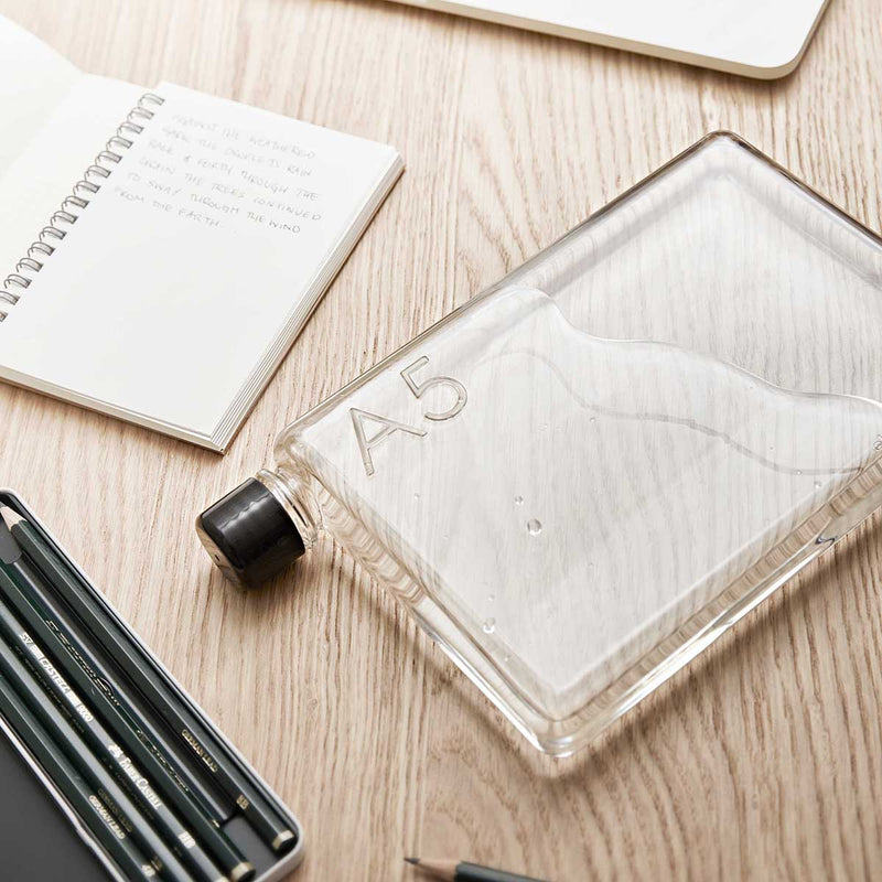 Memobottle Notebook Bottle: Rectangular Water Bottle That Fits Snugly in Your Bag