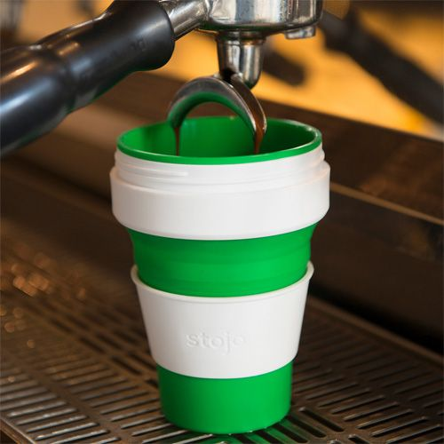 Stojo Cup: Reusable and Collapsible Silicone Coffee Cup