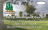 Scotch Pines 2018 Mulligan Card