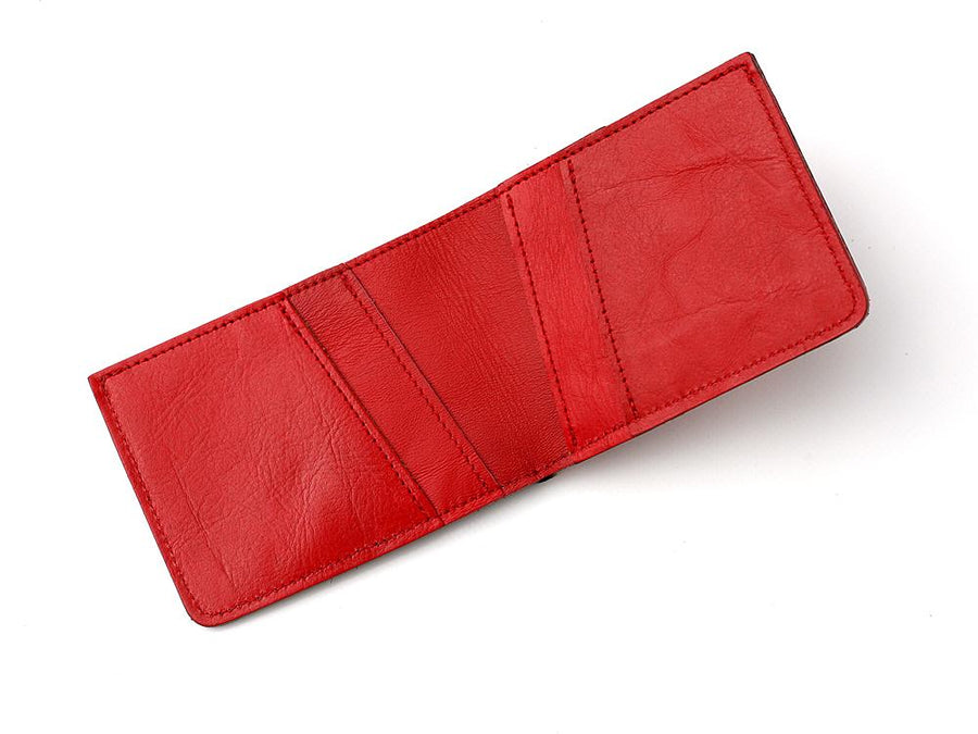 Mercedes Benz Leather Wallet Red