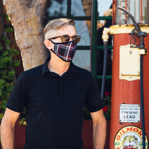 Interlagos Plaid Face Mask