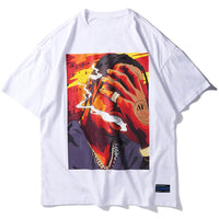 La Flame Free Smoke Graphic T-Shirt - Clout Collection High Fashion Streetwear Men's and Women's