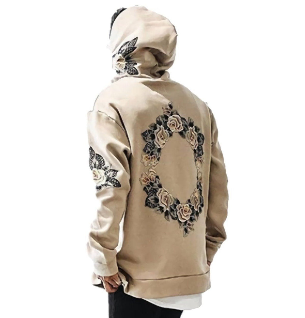 Spring Floral Long Sleeve Hoodie - CLOUT COLLECTION