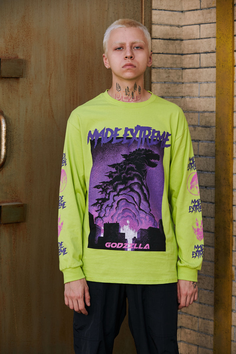 Extreme Aesthetic 'Godzilla' Long Sleeve Tee - CLOUT COLLECTION