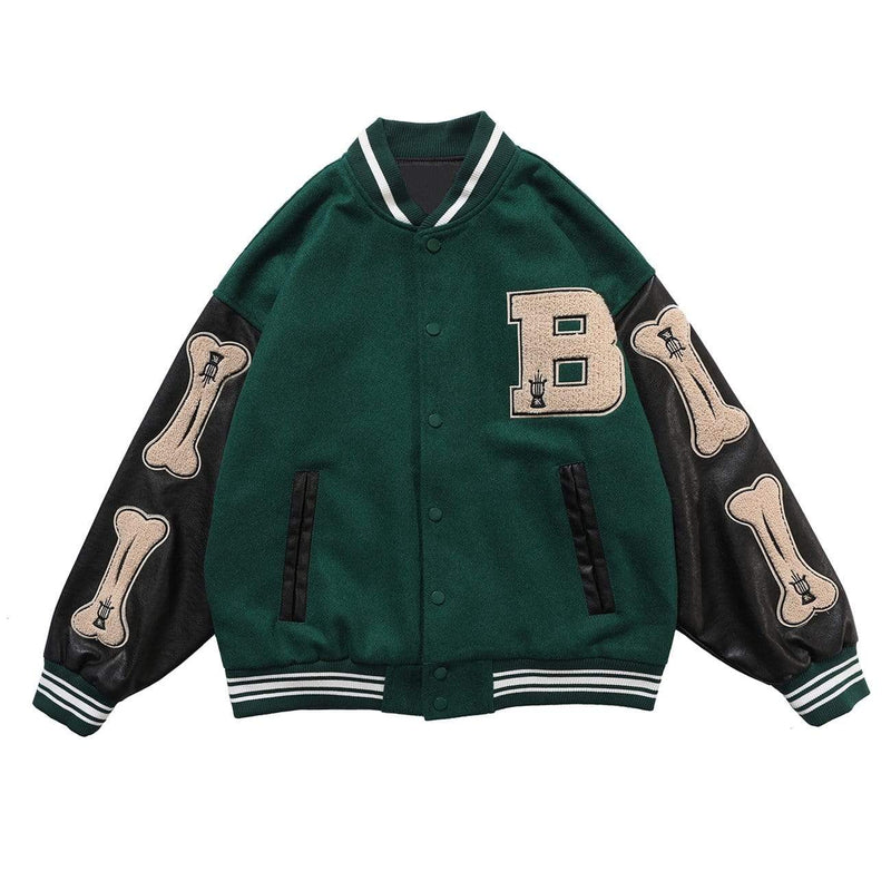 Varsity Jacket with Custom Bone Patching