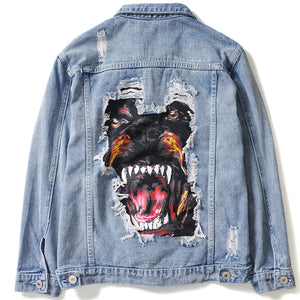 Vicious Custom Denim Jacket - Clout Collection High Fashion Streetwear Men's and Women's