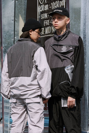 Extreme Aesthetic Covert Chest Pocket Windbreaker - Clout Collection High Fashion Streetwear Men's and Women's