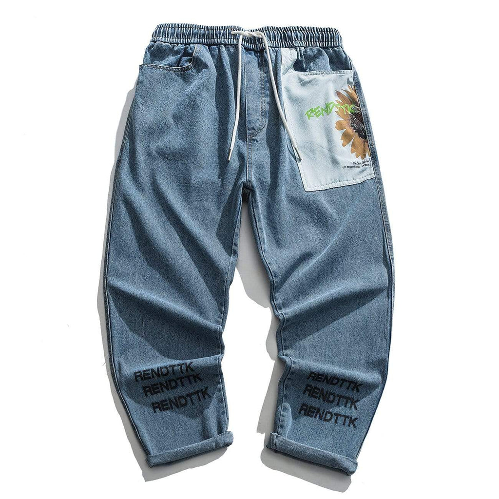 Full Render 'Sun Flower' Denim Jeans