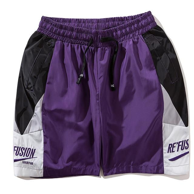 Re'Fusion Track Shorts with Geometric Design - CLOUT COLLECTION