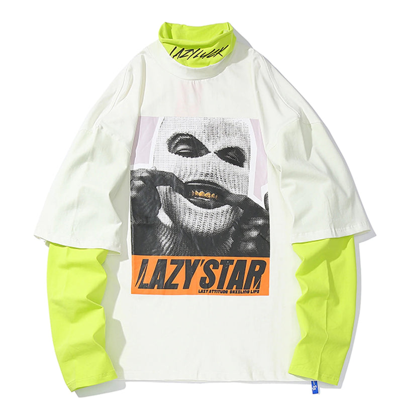 Lazy Star Two Piece Cotton Long Sleeve - Clout Collection High Fashion Streetwear Men's and Women's