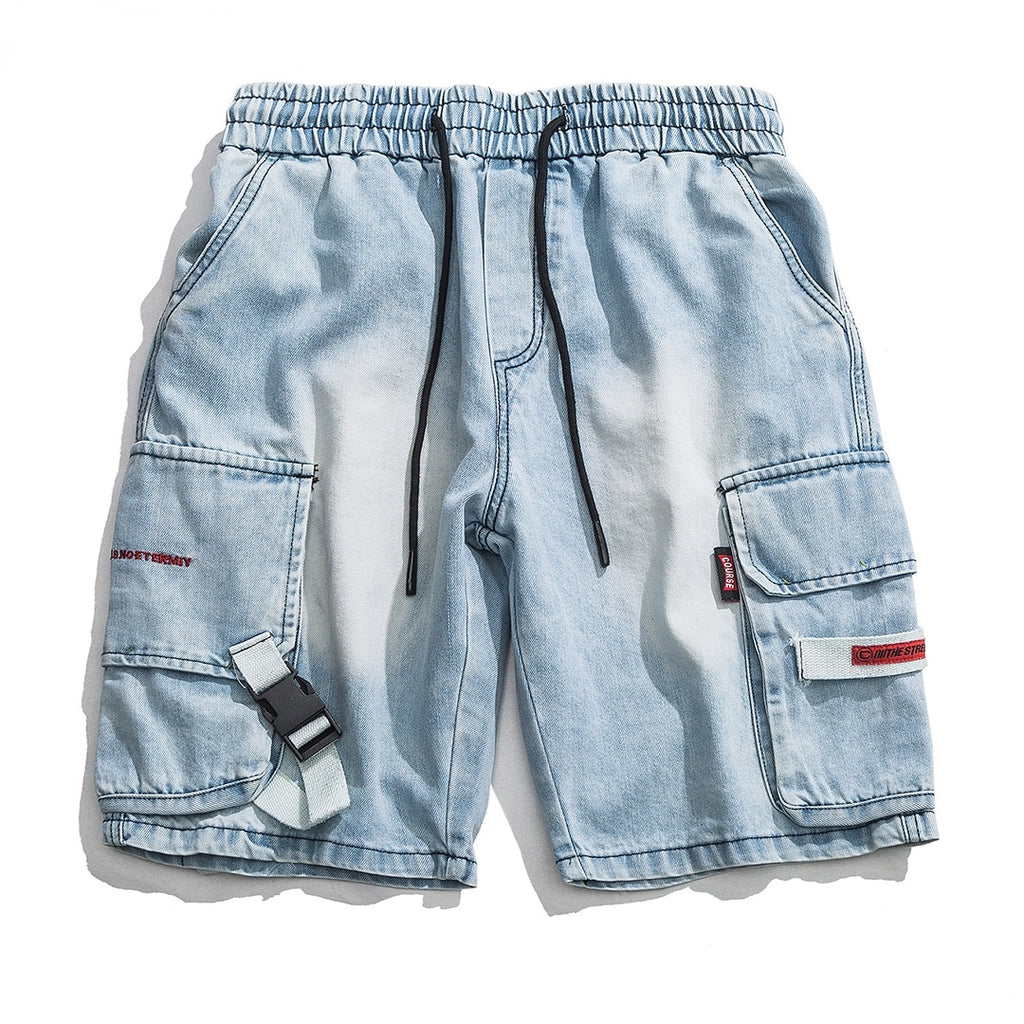 Street Denim Cargo Work Shorts - CLOUT COLLECTION