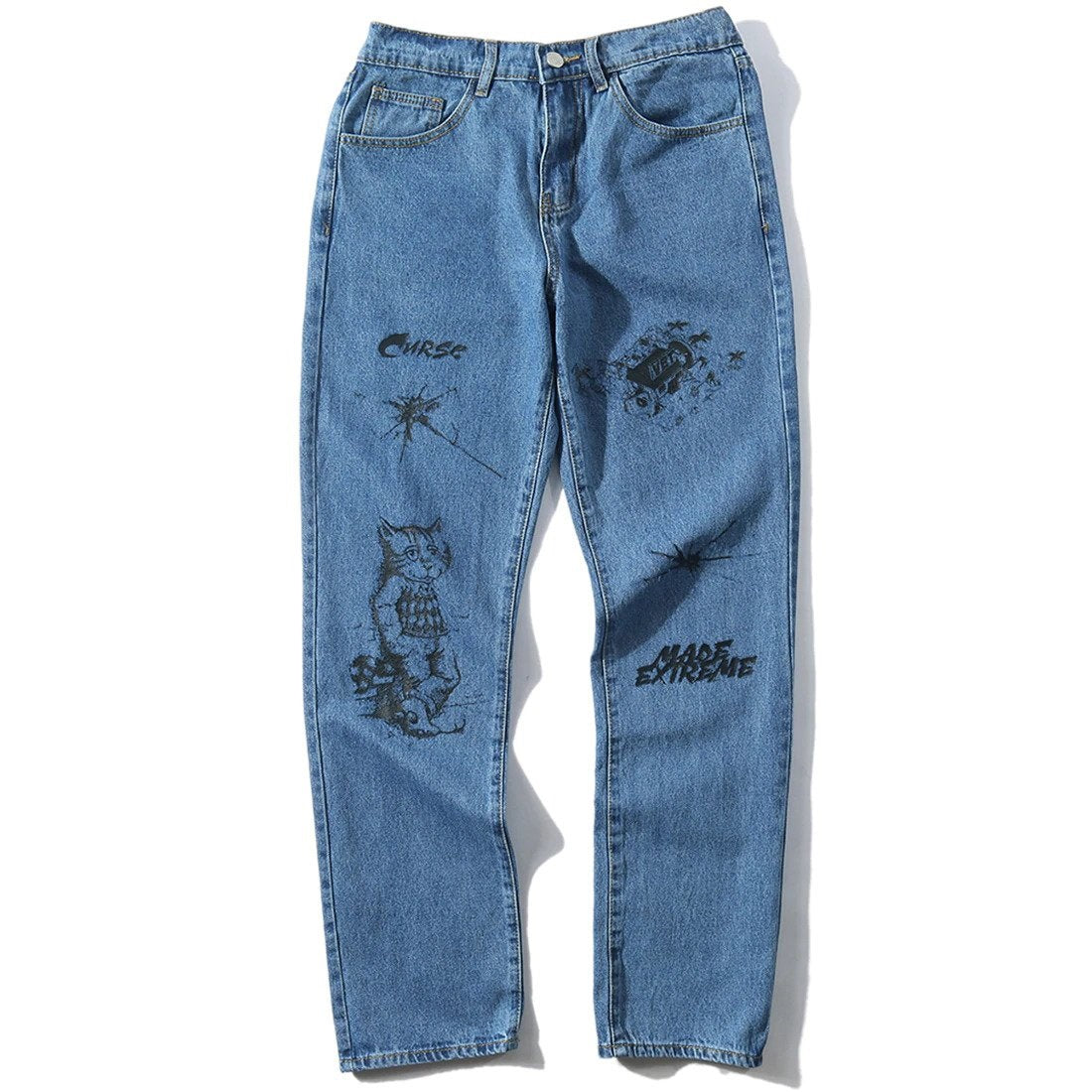 Extreme Aesthetic Customized Jeans | Clout Collection – CLOUT COLLECTION