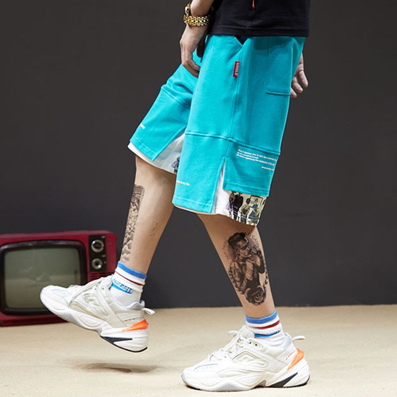 Urban Splice Sweat Shorts - Clout Collection High Fashion Streetwear Men's and Women's