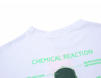 Chemical Reaction Long Sleeve Tee with Astronaut Print - Clout Collection High Fashion Streetwear Men's and Women's