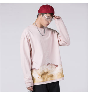 Chemical Reaction Light Cotton Pullover - Clout Collection High Fashion Streetwear Men's and Women's
