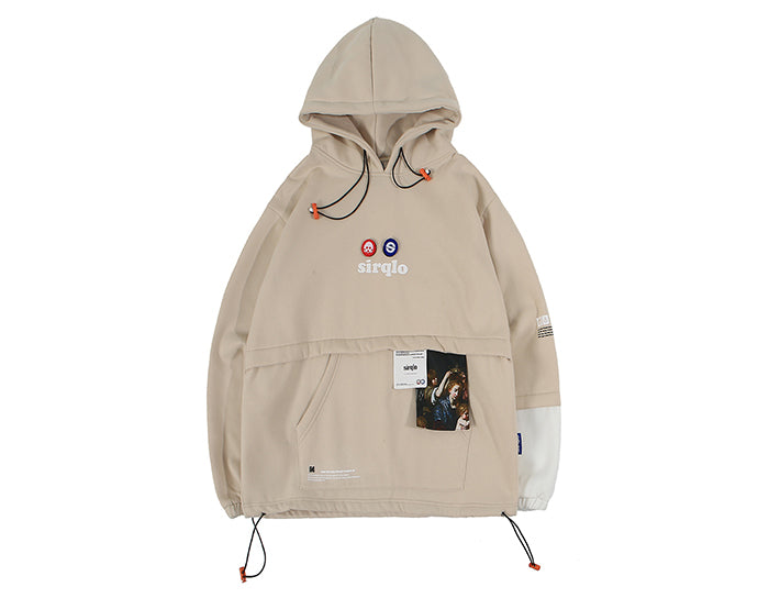Sirqlo Utility Hoodie in Khaki - Clout Collection High Fashion Streetwear Men's and Women's