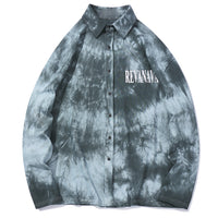 Revanava Button Up Shirt in Vibrant Tie Dye - Clout Collection High Fashion Streetwear Men's and Women's