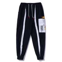 Drawstring Jogger with Vertical Split Stripe - Clout Collection High Fashion Streetwear Men's and Women's