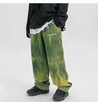Extreme Aesthetic Earth Tone Tie-Dye Loose-Fit Corduroy Pants - Clout Collection High Fashion Streetwear Men's and Women's