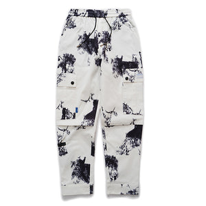 Locked In Cargo Joggers with Splotched Print - Clout Collection High Fashion Streetwear Men's and Women's