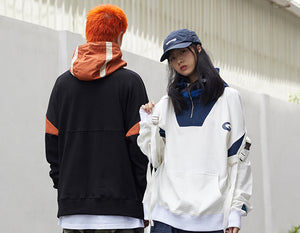 Half Zip Jacket with High Collar and Reflective Detail - Clout Collection High Fashion Streetwear Men's and Women's