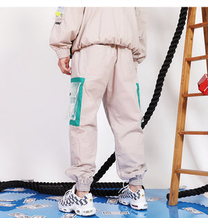 Tapered Clear Pocket Cargo Joggers - Clout Collection High Fashion Streetwear Men's and Women's
