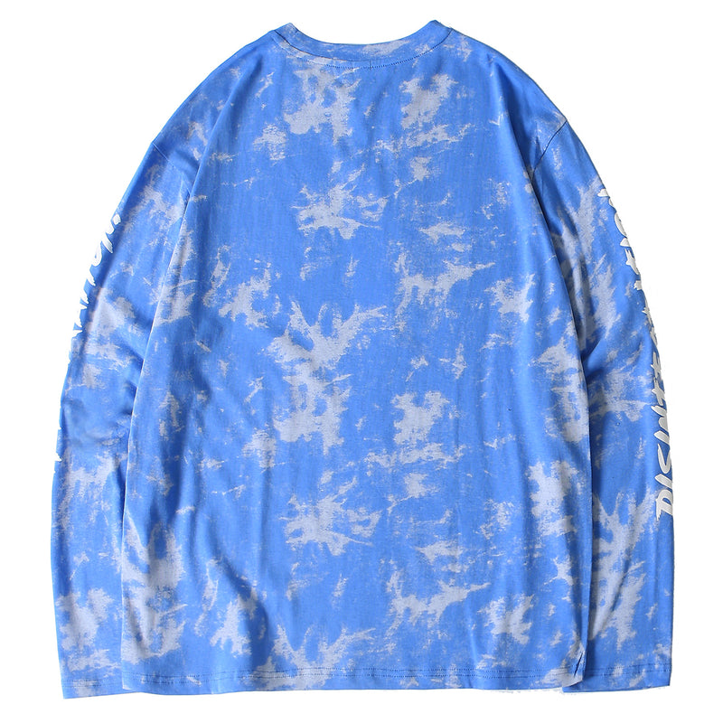 Disintegration Simple Smirk Long Sleeve Tee in Tie-Dye - Clout Collection High Fashion Streetwear Men's and Women's