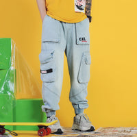 CXL Denim Multi-Pocket Cargo Joggers - Clout Collection High Fashion Streetwear Men's and Women's