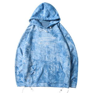 'The Best Revenge' Cotton Pullover Hoodie in Tie Dye - Clout Collection High Fashion Streetwear Men's and Women's