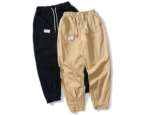 Retro Clout Jogger Chinos in Khaki or Black - Clout Collection High Fashion Streetwear Men's and Women's