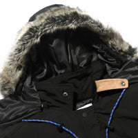 Retro Clout Thick Winter Parka with Detachable Hood - Clout Collection High Fashion Streetwear Men's and Women's