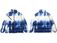 Extreme Aesthetic Tie-Dye Print Puffer Jacket - Clout Collection High Fashion Streetwear Men's and Women's
