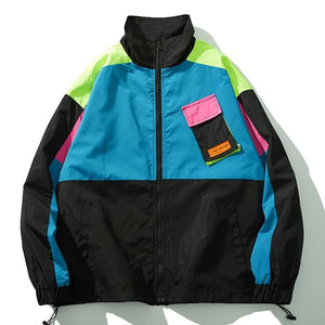 OXA Vintage Color Block Zip Up - Clout Collection High Fashion Streetwear Men's and Women's