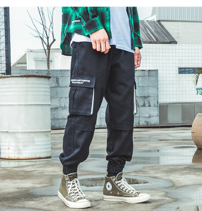 Disintegration Tapered Cargo Joggers - Clout Collection High Fashion Streetwear Men's and Women's