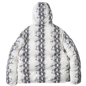 Extreme Aesthetic Snakeskin Print Puffer Jacket - Clout Collection High Fashion Streetwear Men's and Women's
