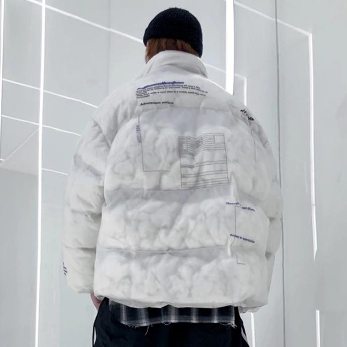 'Society' Transparent Puffer Jacket - Clout Collection High Fashion Streetwear Men's and Women's