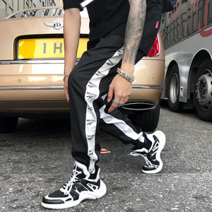Daily Style Side Stripe Joggers - Clout Collection High Fashion Streetwear Men's and Women's