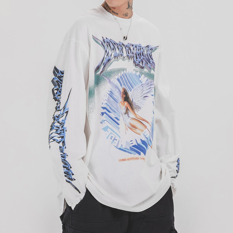 Extreme Aesthetic Angelic Long Sleeve T-Shirt - Clout Collection High Fashion Streetwear Men's and Women's