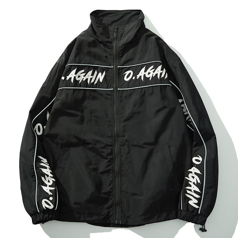 Over Again Reinforced Nylon Zip Up