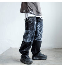 Extreme Aesthetic Baggy Pants with Tie-Dye Print - Clout Collection High Fashion Streetwear Men's and Women's