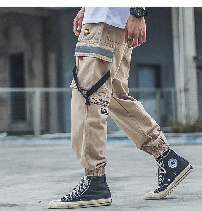 Utility Tapered Chino Joggers - Clout Collection High Fashion Streetwear Men's and Women's